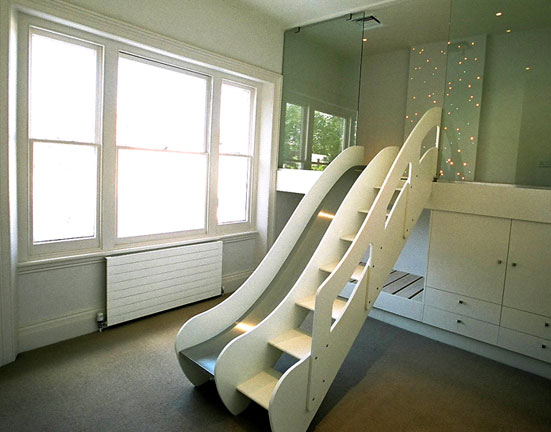 Childrens Bedroom Climb Slide