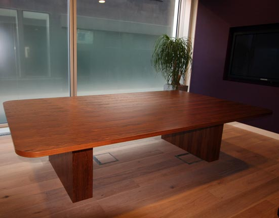 Large Boardroom Table Curved Edges