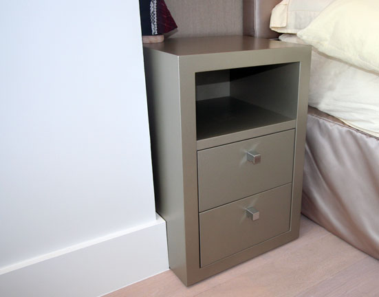 Bedside Cabinet Pearl Beige Spray  Finish