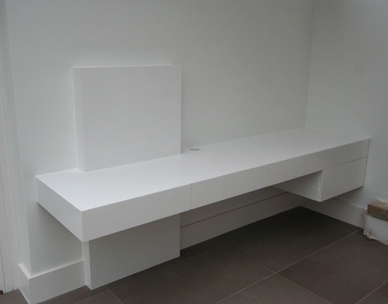 Contemporary Desk White