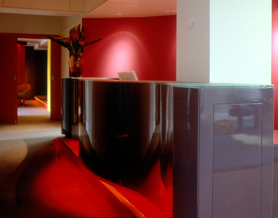 High Gloss Reception Desk