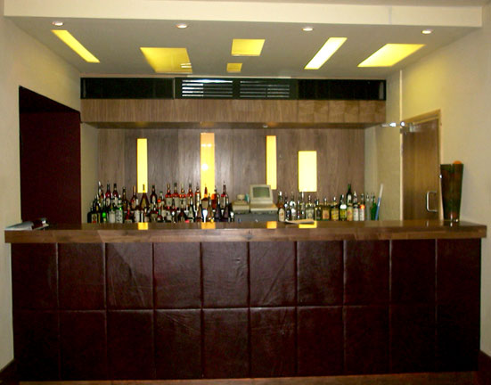 Homebar Bar Leather Panelled Front