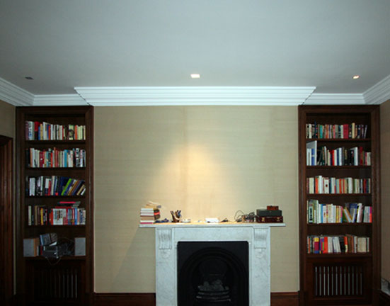 Book Shelves Fireplace