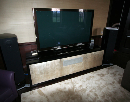Tv Stand Gold Leafed Doors