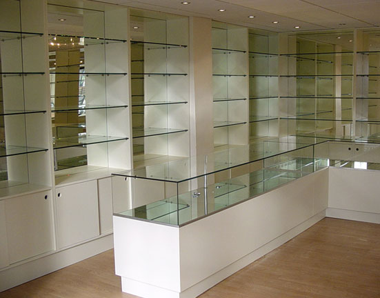 Perfume Shop Glass Shelves