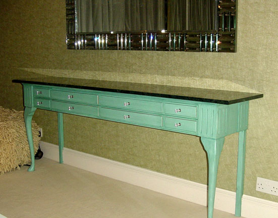 Green Table Drawers